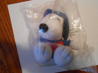 Collectible SNOOPY Plush Peanuts in RACING CLOTHES  Metlife - New In Cello