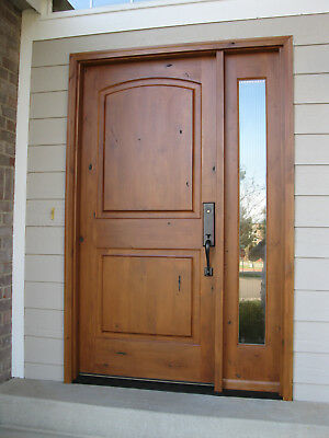 3068 Knotty Alder Arch Top Entry Door with 1 Lite Side Lite