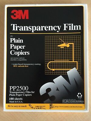3M PP2950 8.5 x 11 Transparency Film For Plain Paper Copiers  Pack Of 95