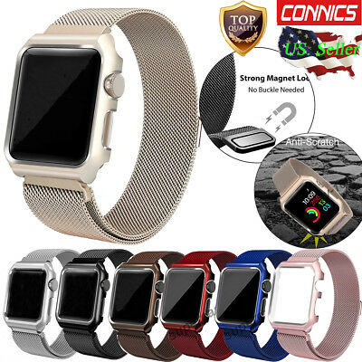 Fr Apple Watch Series 4 3/2/1 Milanese Stainless Steel iWatch Band Strap 38/42MM