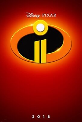 The Incredibles 2 Theatrical Poster D/S 27x40 Authentic Brand New