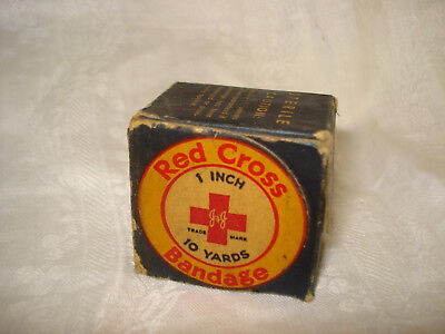 Vintage RED CROSS BANDAGE in old Box - Sealed 10 yards x 1 inch