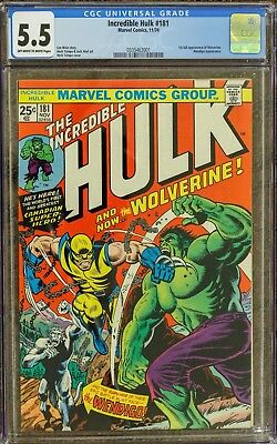 Incredible Hulk #181 CGC 5.5 (OW-W) 1st Wolverine Appearance