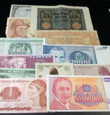 1900s Old World Paper MOney CUrrency Collection of 12 Assorted Notes!