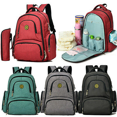 Baby Diaper Nappy Bag Mummy Maternity Women Backpack Rucksack Hanging Bag Pack