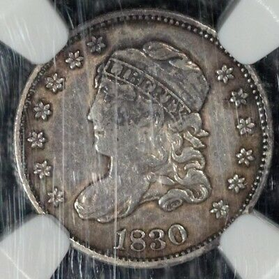 1830 Capped Bust half dime, NGC XF Details