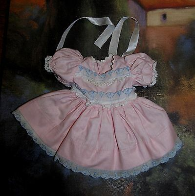 Gorgeous Ideal P90 Toni Pink DRESS with Blue and White Embroidered Trim Minty!