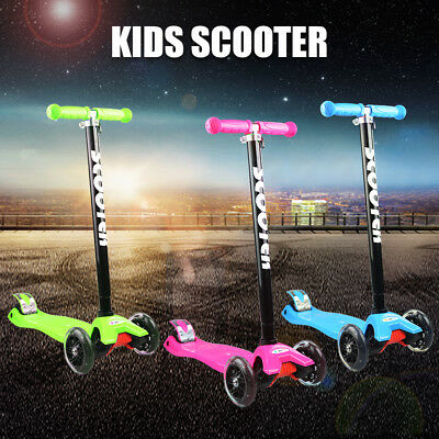 3 Wheel Foldable Kick Scooter LED Flash Light Child Scooter Gift Kid Toy AU