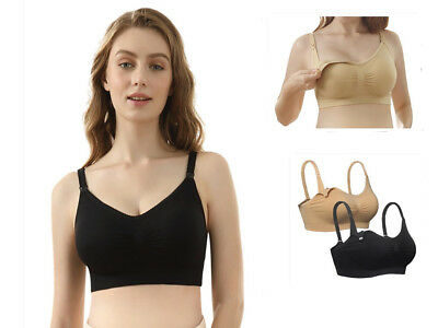 iLoveSIA Womens Seamless Wireless Padded Maternity Nursing Bra For Breastfeeding