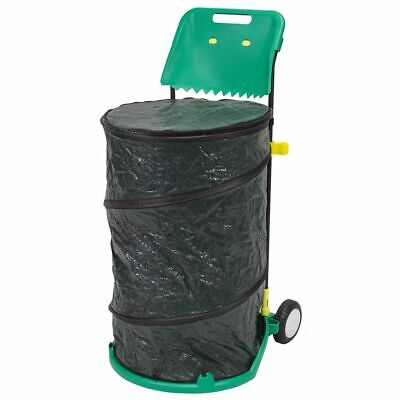 Nature Folding Garden Waste Trolley 6070405 with 2 Wheels 160L 15kg Foldable