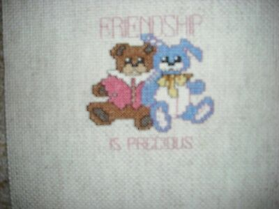 Handmade Counted Cross Stitch Baby Picture