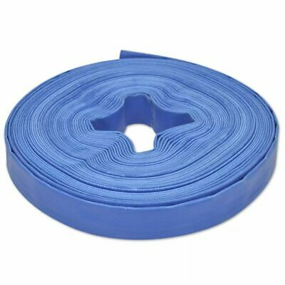 """vidaXL Flat Hose 25m 1"""" PVC Water Delivery Farm Discharge Pipe Pump Tubing"""