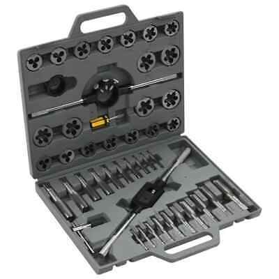 vidaXL Tap and Die Set 45 pcs Metric Wrench Cuts Bolts Engineers Kit Tool Case