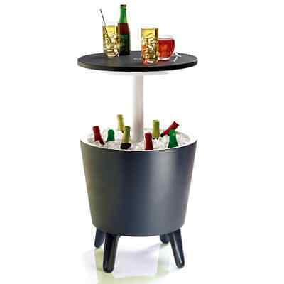 Keter Cool Bar Anthracite Outdoor Drink Wine Storage Cooler Party Table 192710