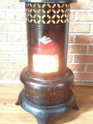 Antique Working 15 NESCO Oil Kero Parlor Cabin Heater W/ 1919 PERFECTION BURNER!