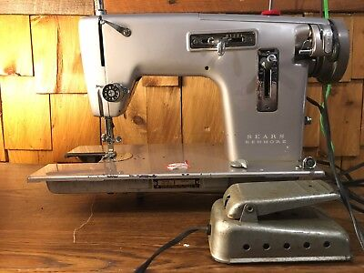 SEARS Kenmore Vintage Mini Portable Electric Sewing Machine Working Adorable Kenmore Sewing Machine Model 15108