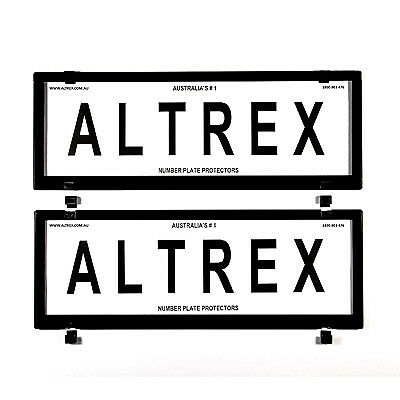6 figure Number Plate Covers Black without Lines Altrex 6CNL
