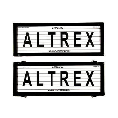 6 figure Number Plate Covers Black With Lines Altrex 6L