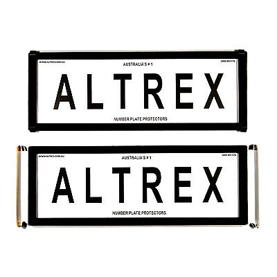 6 figure Number Plate Covers Advanced Black without Lines Altrex 6ONLC