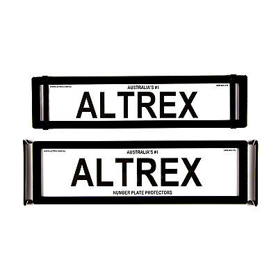 6 figure Number Plate Covers Advanced Slimline Black without Liness Altrex 6ONLP