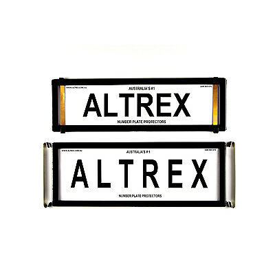 Number Plate Covers Slimline Standard Combination Black without Lines Altrex NPP