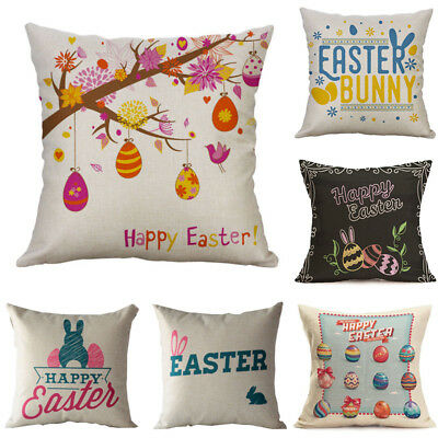Easter Car Sofa Bed Throw Pillow Case Cushion Cover Festival Home Decoration 18""