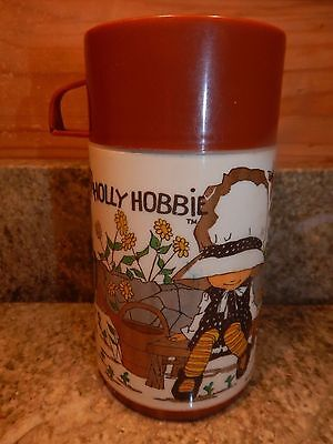 Vintage Holly Hobbie..Brown Cup 1972 Aladdin Ind,Plastic-Thermos