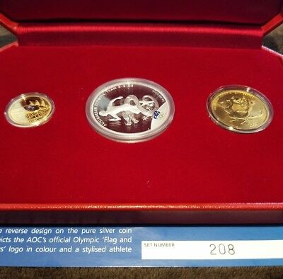 2008 Olympic Three coin set Gold,Silver and Bronze
