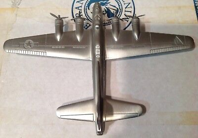Danbury Mint Flying Fortress Pewter Airplane Vintage 1:156 Scale Danbury Mint