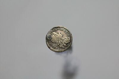 Uk Gb 2 Pence 1684 Silver Holed A77 #8026