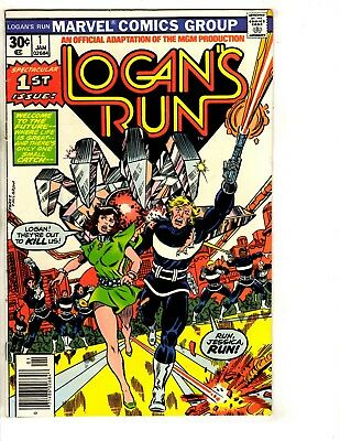 Lot Of 6 Logan's Run Marvel Comic Books # 1 2 3 4 5 7 Adaptation Series J290