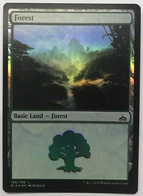 MTG MAGIC - Forest - 279/279 Ixalan - Land FOIL - EUR 0,61
