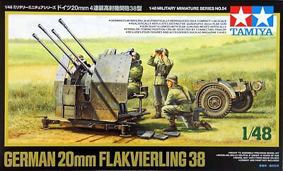 Tamiya 32554 1/48 Military German 20mm Flakvierling 38 Model Kit