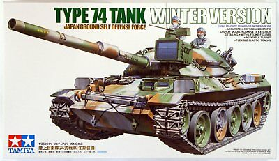 Tamiya 35168 1/35 Military JGSDF Type 74 Main Battle Tank Kit