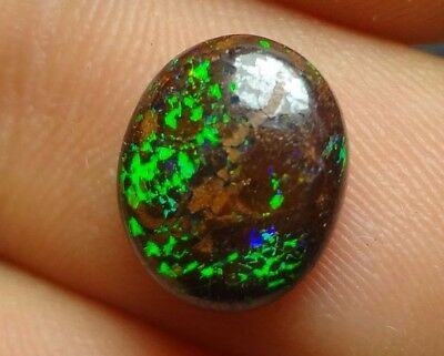 Lapidary: 2 carat natural, small polished solid boulder opal from Koroit QLD