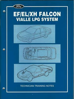 Falcon Ef El Xh Lpg Gas Vialle Ford Only Dealer Internal Training Book Manual