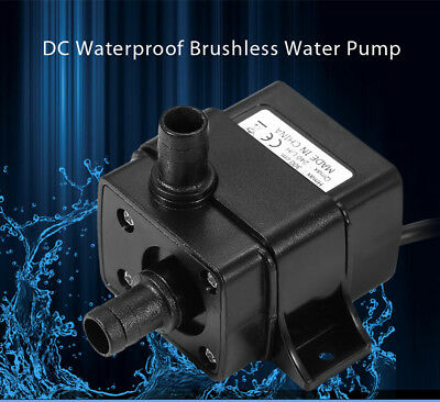 DC 12V 400mA Waterproof Cooling Fountain Brushless Water Pump 240l/h