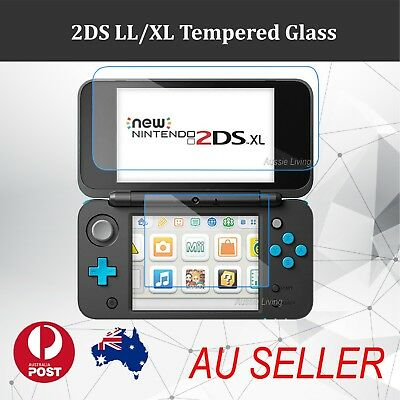 Top& Bottom Tempered Glass Screen Protector Film for Nintendo New 2DS LL/XL 2017