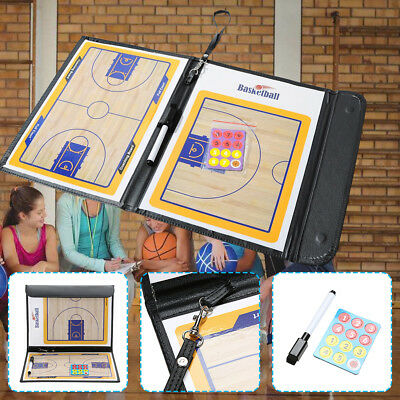 Basketball Coaching Board Coaches Clipboard Tactical Set Dry Erase With Marker