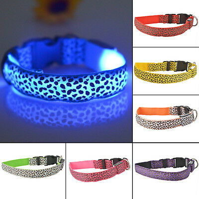 Fascinating LED Flashing Collar for Pets Dog Cat Night Safety Light Luminous US