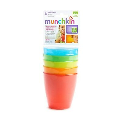 New Munchkin Miracle Baby Sippy Cup Toddler Multi Cups BPA-Free 5 Pack Easy Grip