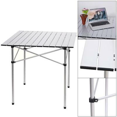Portable Aluminium Camping Picnic Party Table Top Roll Folding With Carry Bag