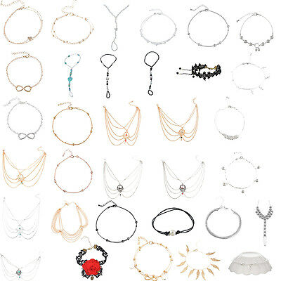 Fashion Ladies Anklet Beach Tassel Strass Toe Ring Chain Foot Ankle New diy