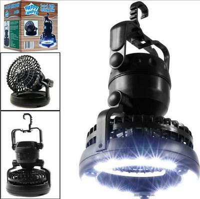 2in1 18LED Camping Light Hook Hanging Fan Portable/Weather Resistant Lamp/Torch