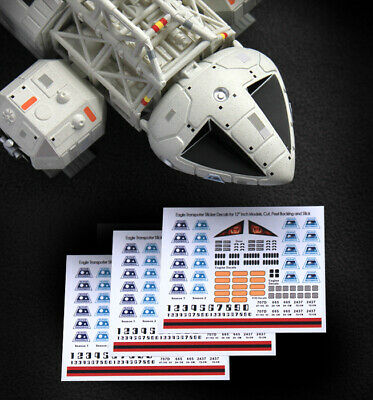 "3 x SPACE 1999 EAGLE TRANSPORTER - STICKER DECALS - MPC & PE - 12"" Models"