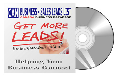 Canada Business Database Sales Leads List  Business Directory 1.8 M Records