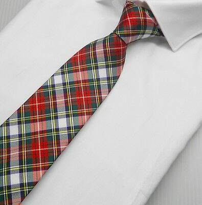 NWT Battisti Napoli Tie Classic Red and White Plaid Hand Made in Italy
