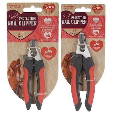 Rosewood Dog & Cat Nail Clippers -Small / Large Soft Pet Salon Grooming Quality