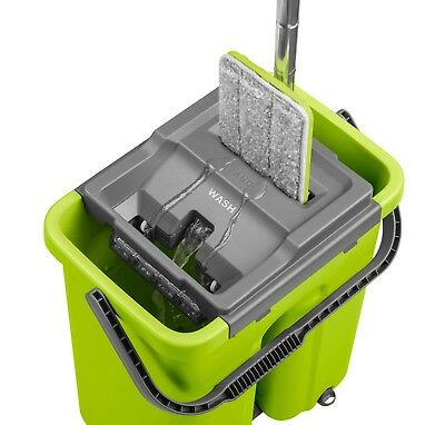 Cleanup Complete Wash & Dry Flat Mop & Bucket Cleaning System for all Floors