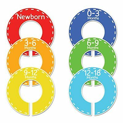 Closet Doodles C47 Sports Baby Boy Clothing Dividers Set of 6 Fits 1.25inch Rod